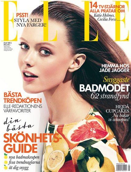 Frida Gustavsson Elle Sweden May 2011