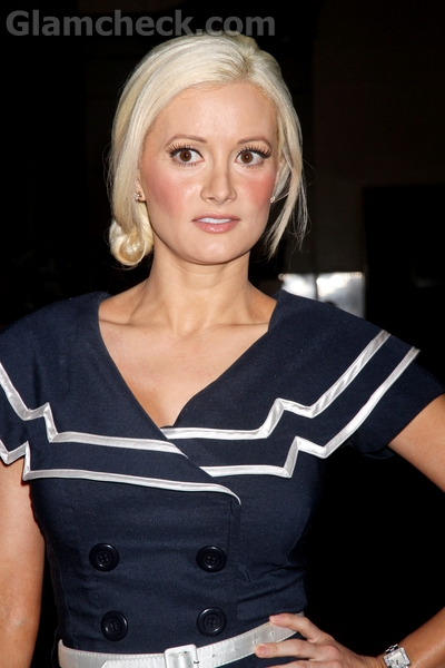 loose bun hairstyles. Holly Madison : Loose side un