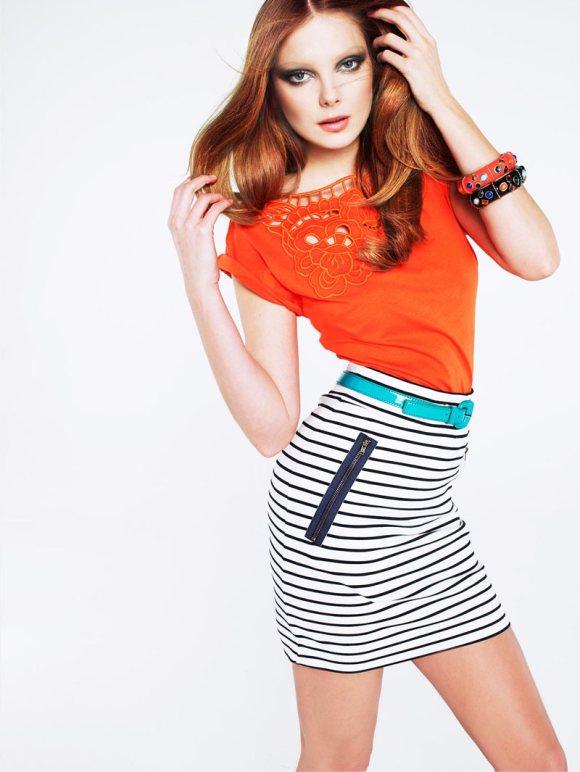 Mango Color Stripes Lookbook