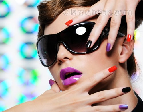 Multi colored nail Easy nail art
