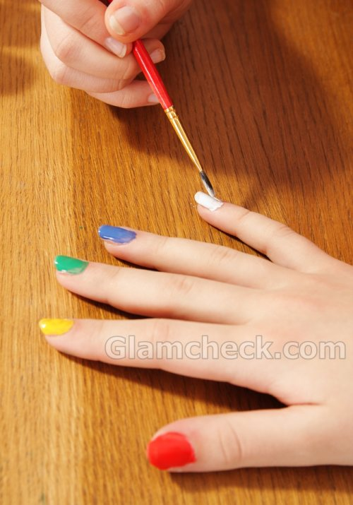 easy nail art multi colored nails