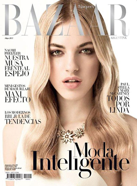 Naomi preizler for harper s bazaar argentina may 2011 for Bazaar argentina