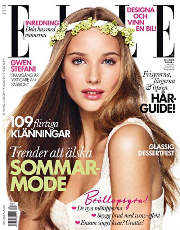Siri Crafoord Elle Sweden June 2011