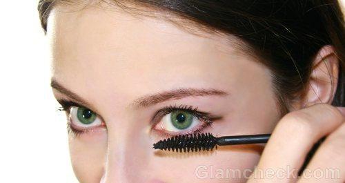 applying mascara