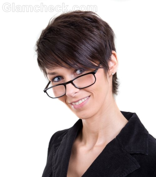 business woman  short hairstyle