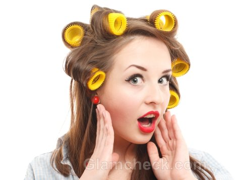 hair rollers add curls and volumes to the hair they