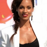Alicia Keys braid hairstyle