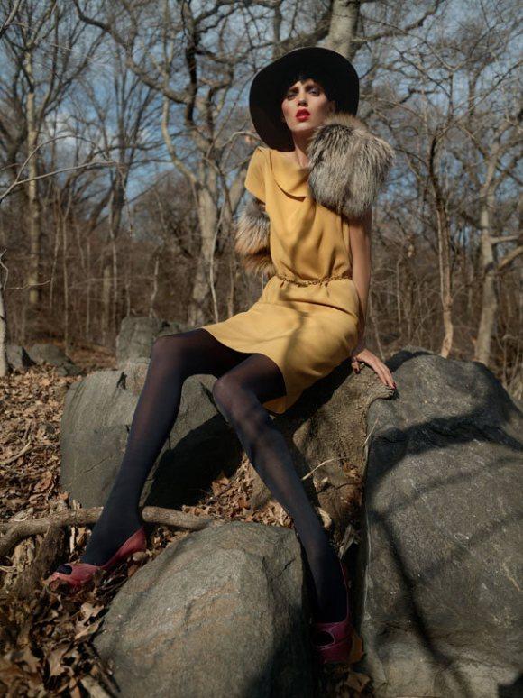 Anja Rubik Bergdorf Goodman Pre Fall 2011