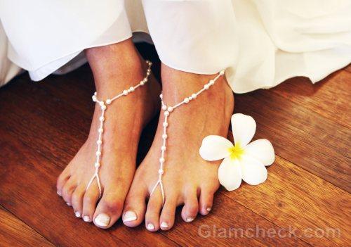Beach wedding accessories bride footwear