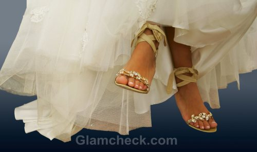 Beach wedding accessories bride sandal