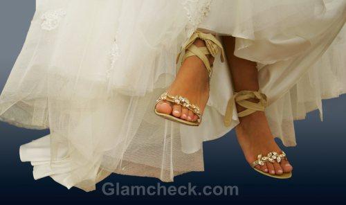 Beach wedding accessories bride sandal