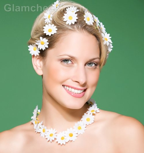 Beach wedding accessories flower jewelry