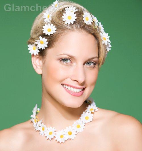 Beach wedding accessories flower jewelry