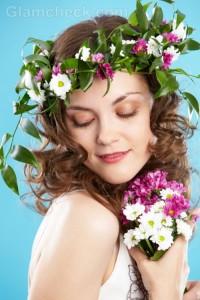 Beach wedding accessories flower wreth