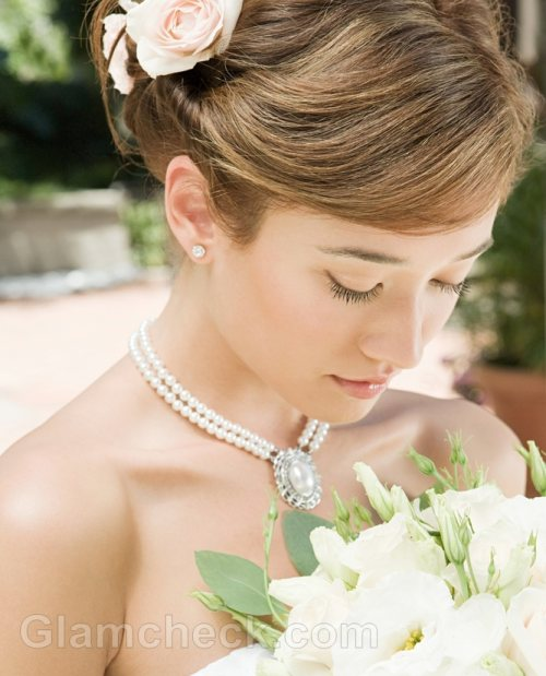 Beach wedding accessories pearl jewelry