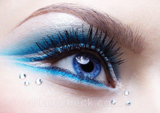 Картинки с макияжем голубых глаз