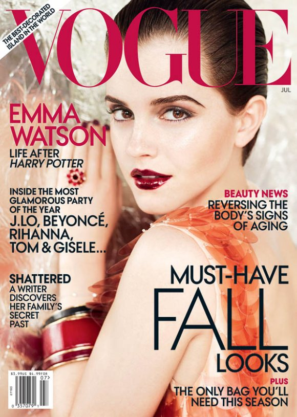 emma watson vogue cover us. Emma Watson Vogue US July 2011