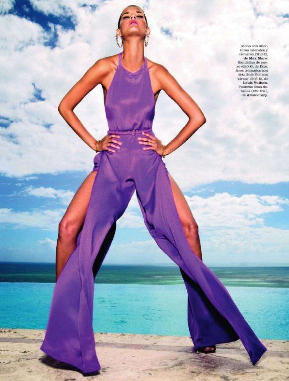 Flavia de Oliveira for Elle Spain July 2011