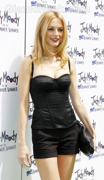 Heather-Graham-Shorts-corset-Top