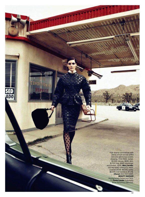 Hilary Rhoda Harpers Bazaar US June July 2011