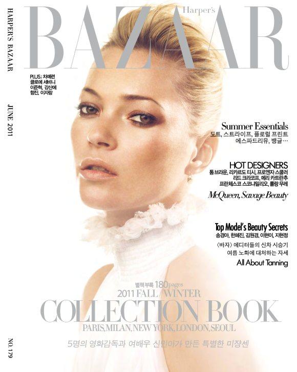 Kate Moss Harpers Bazaar Korea June 2011
