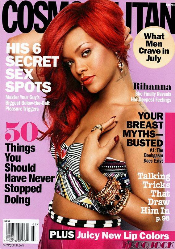 Rihanna US Cosmopolitan July 2011