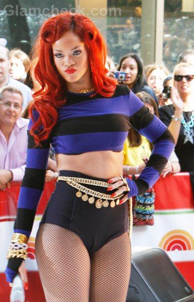 Rihannas new hairstyle vintage rolls