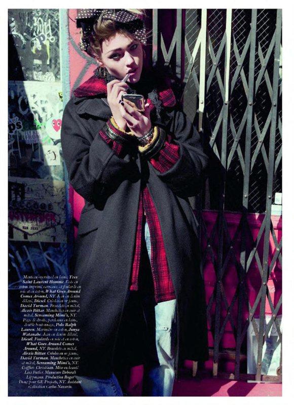 Sasha Pivovarova Vogue Paris June July 2011