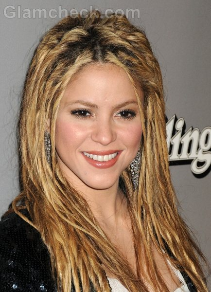 Shakira Hairstyles- twisted-braid-Hair