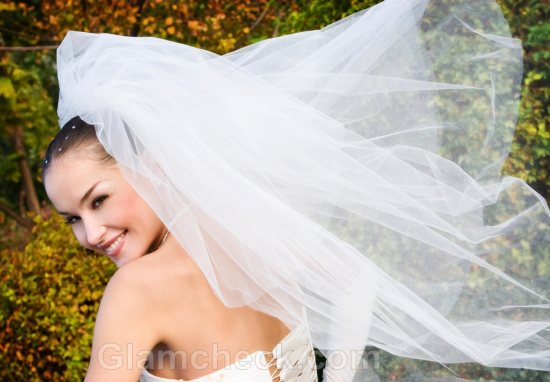 wedding accessories veil two layer