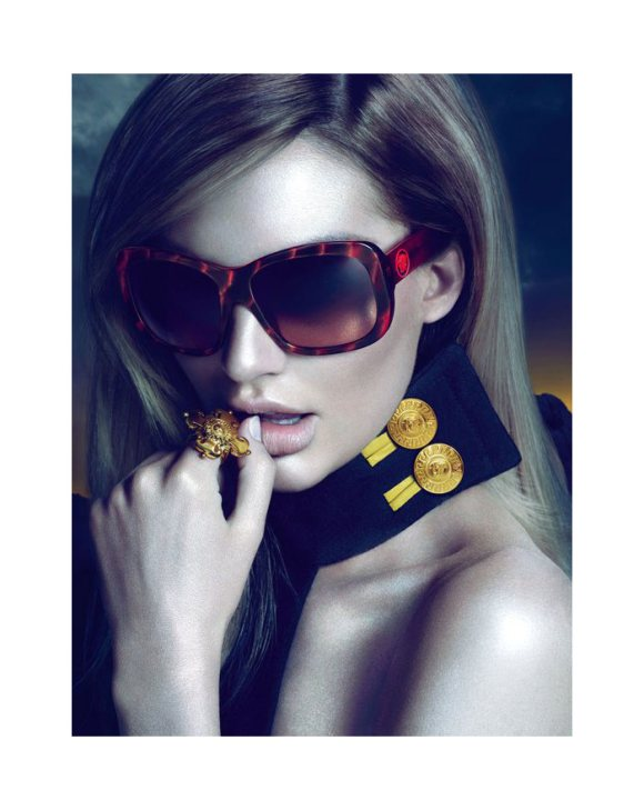 Candice Swanepoel Versace Eyewear Fall 2011 Campaign
