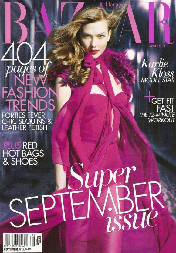 Karlie Kloss Harpers Bazaar Australia September 2011