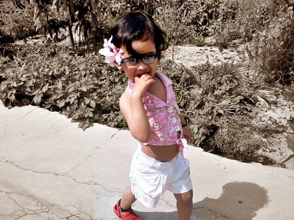 Kids Summer Style white shorts