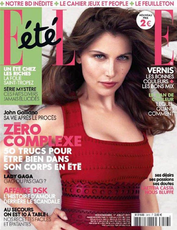 Laetitia Casta Elle France July