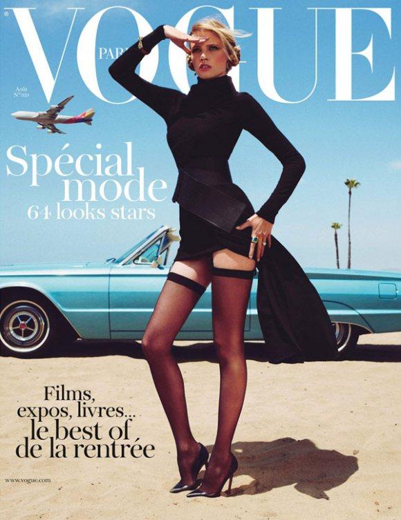 Lara Stone Vogue Paris August 2011