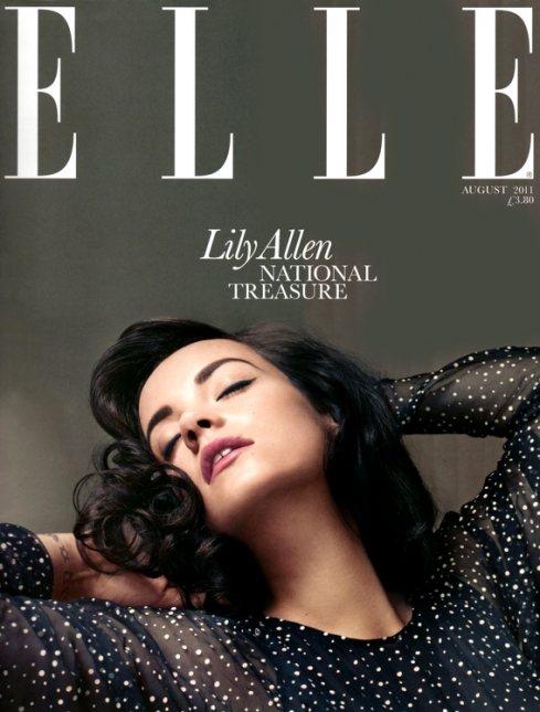 Lily Allen Elle UK August 2011-2