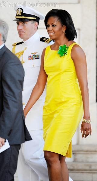 Michelle-Obama-sheath-dress