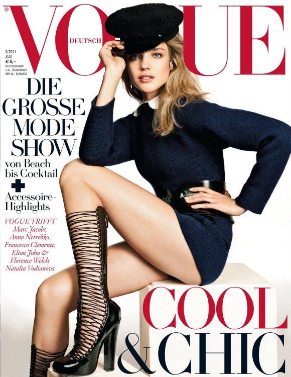 Natalia Vodianova Vogue Germany July 2011