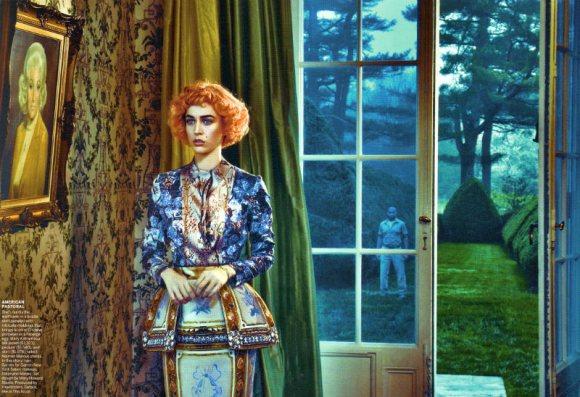 Raquel Zimmermann Vogue US August 2011