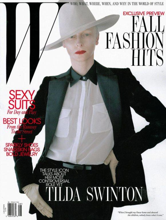 Tilda Swinton W Magazine August 2011