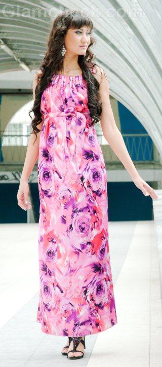 pink maxi dress petite
