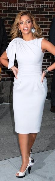 white sheath dress beyonce
