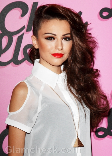 Cher-Lloyd-side-swept-hair-and-makeup