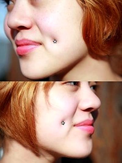 Dimple Piercing Cheek Piercing