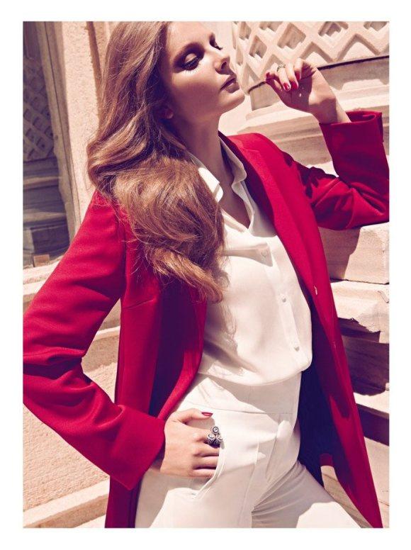 Eniko Mihalik Harpers Bazaar Turkey August 2011