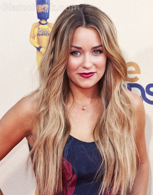 Lauren Conrad Hairstyle Middle Parted Open Wavy Hair