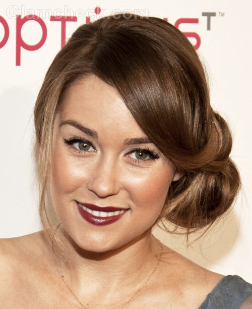 Lauren Conrad Hairstyle Side Swept Chignon