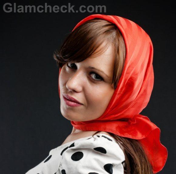 Wearing head scarf-7