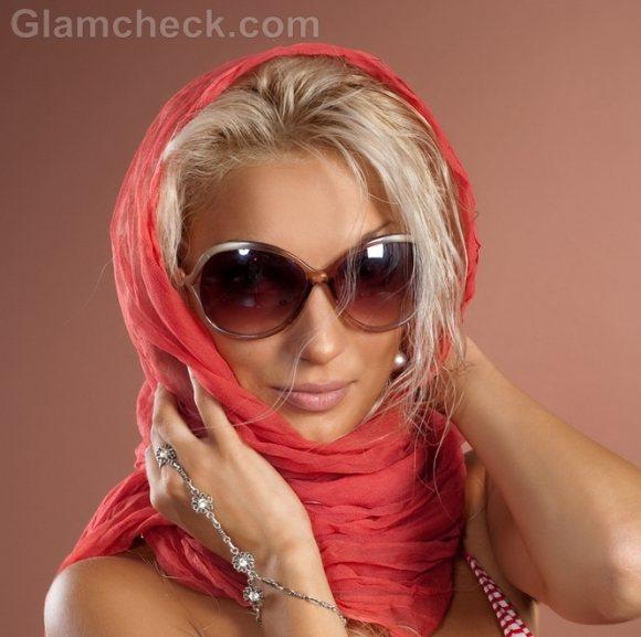 Wearing head scarf