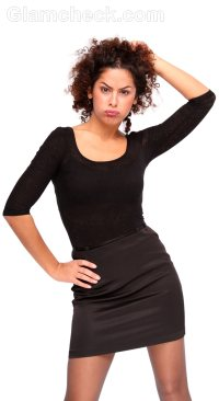 black mini dress sleeves